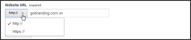 Điền chính xác địa chỉ website yêu cầu