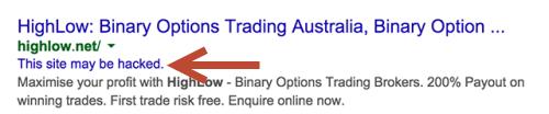 Khi người tìm kiếm thấy đoạn cảnh báo, họ sẽ không click vào xem website.