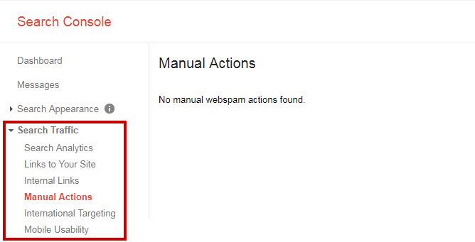 kiểm tra website bị google phạt trong webmastertool