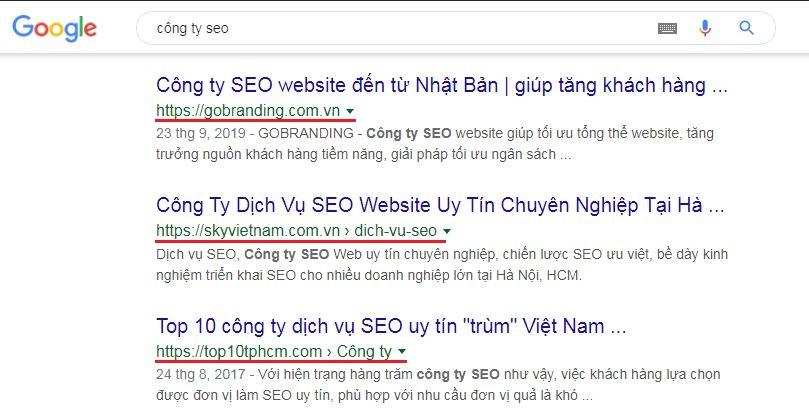 SEO website GOBRANDING - Tối ưu tổng thể cho website