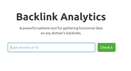 Nhập tên miền muốn kiểm tra backlink.