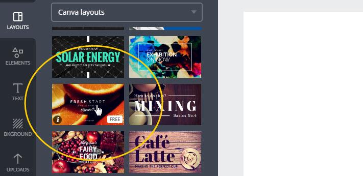 Nhấp chọn layout ưa thích