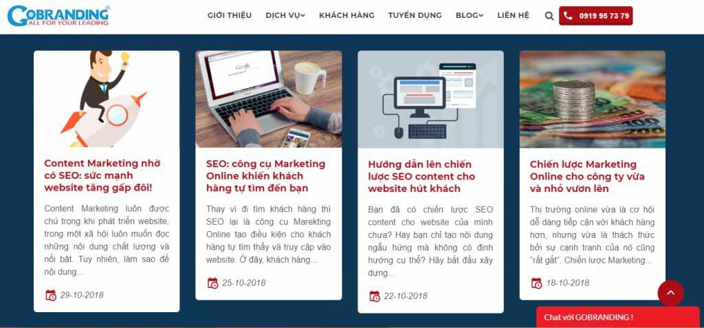 Website là phương thức Marketing Online không thể thiếu