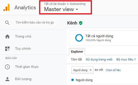 Truy cập vào tài khoản Google Analytics