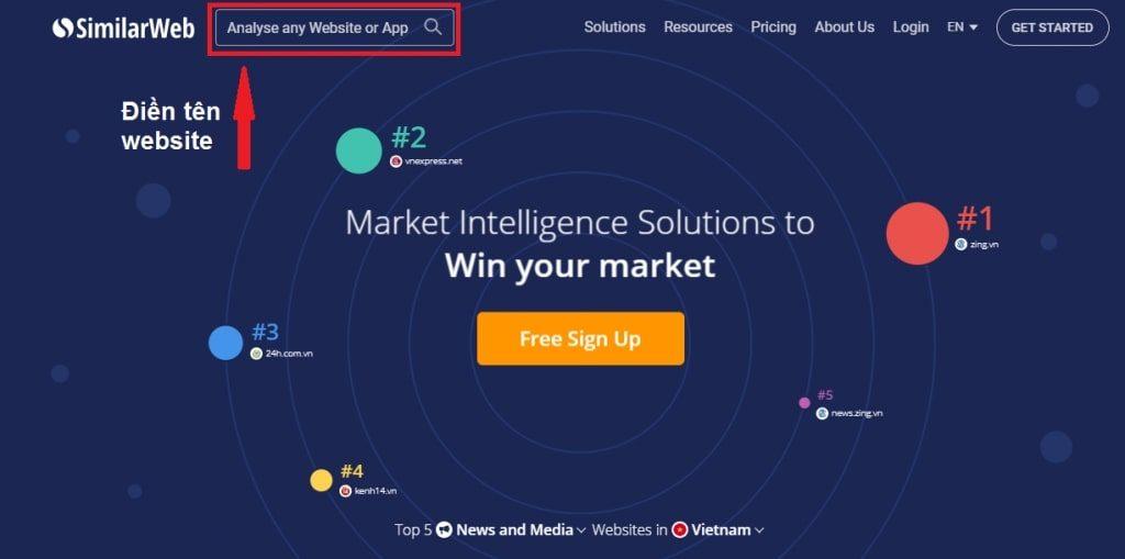SimilarWeb- kiểm tra/check traffic website online free nổi tiếng nhất hiện nay