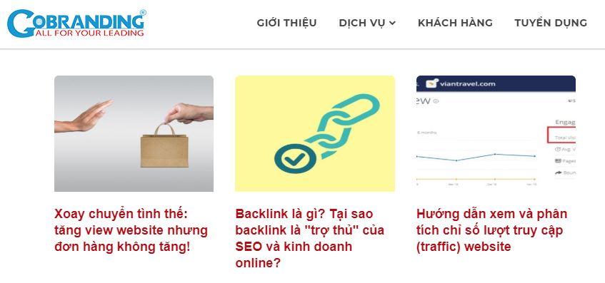 Viết Content Marketing trên blog của GOBRANDING.