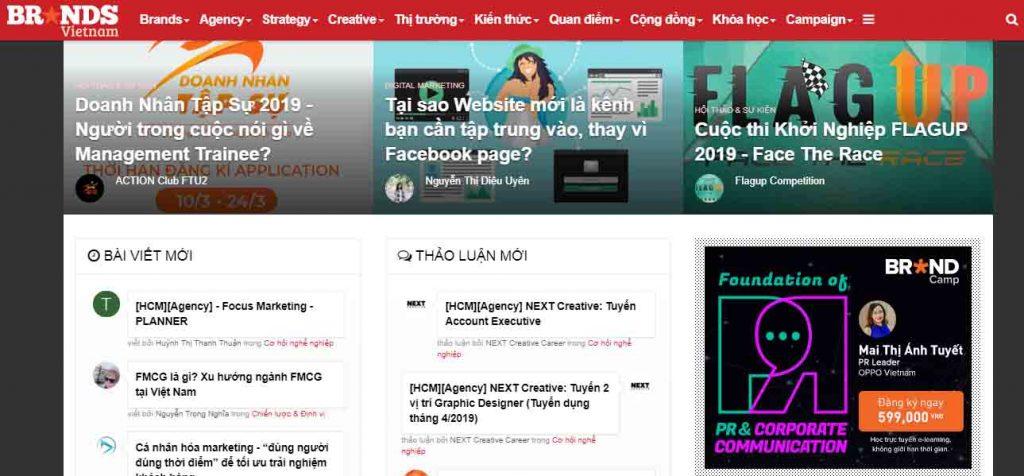 Content do người dùng tự tạo trên BrandVietnam.