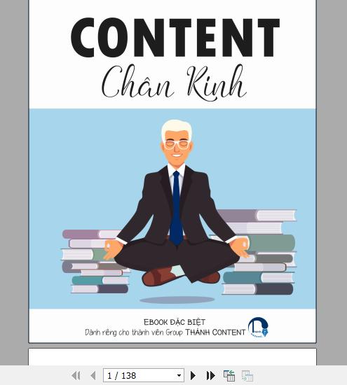 Content Ebook dài 138 trang.