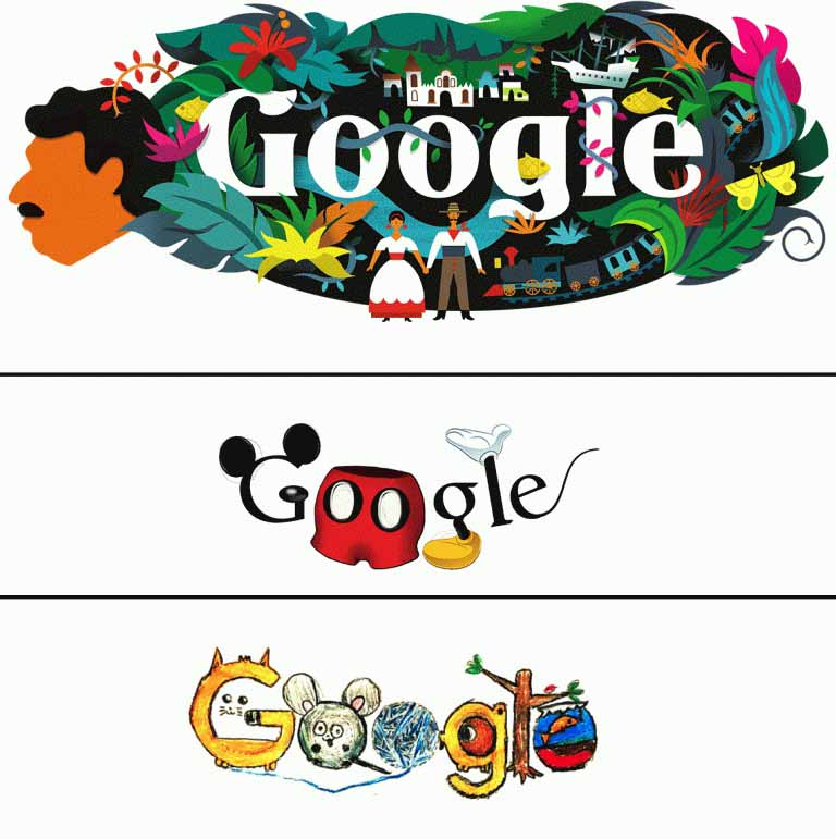 Google thường xuyên thay đổi logo trên trang chủ tìm kiếm.