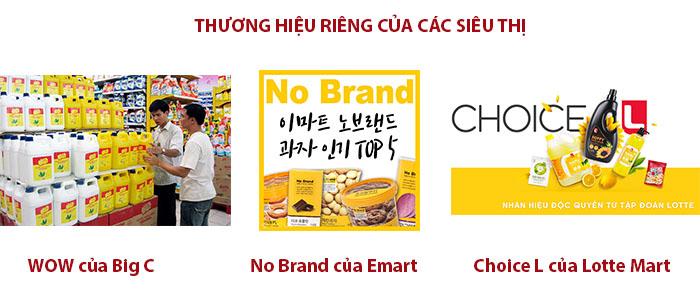 Một số Vendor là các siêu thị thường tự sản xuất cho mình những sản phẩm riêng để bán.