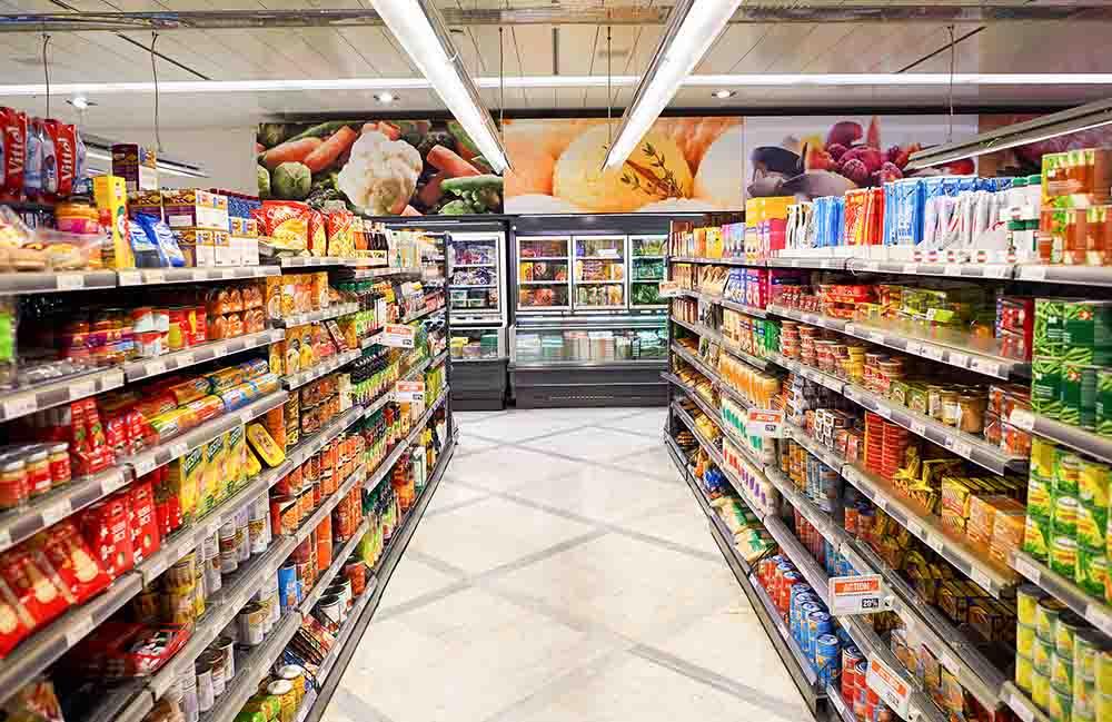 Quầy hàng trong siêu thị