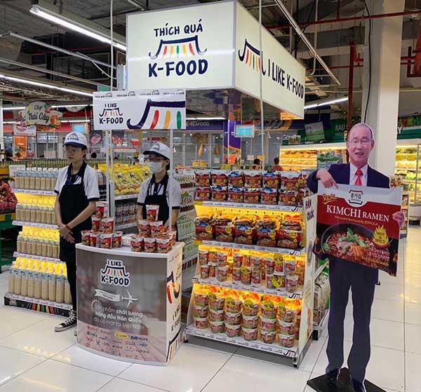 Quầy dùng thử thương hiệu K-food