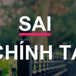 Sửa lỗi chính tả Tiếng Việt