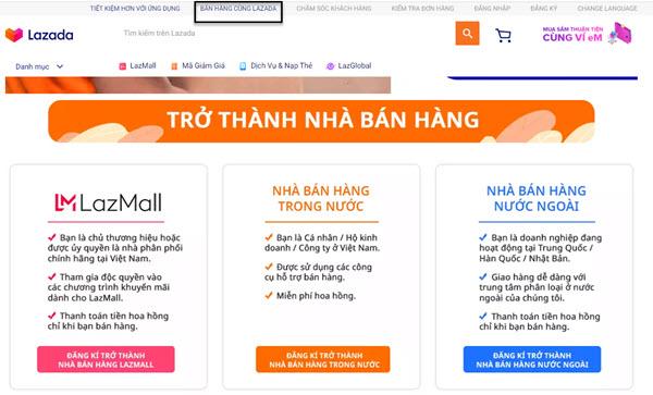 Lazada là một trong những website thương mại ứng dụng mô hình Marketplace đầu tiên tại Việt Nam.
