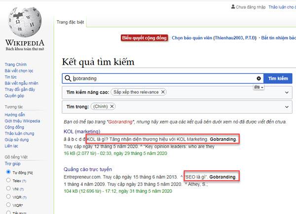Được đề cập ở những trang như wikipedia giúp tăng tính thẩm quyền cho website.