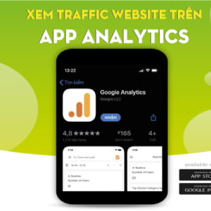 Xem traffic website trên app analytics.