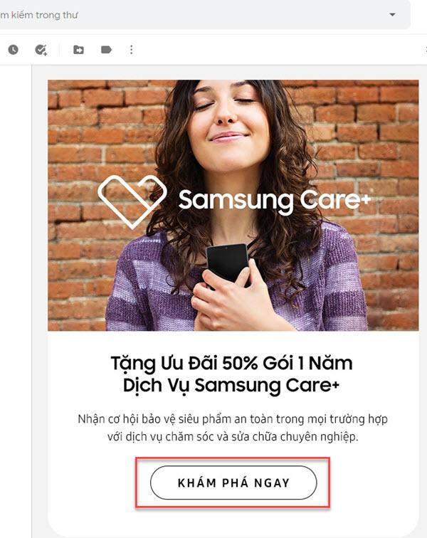 CTA kêu gọi khám phá sản phẩm, dịch vụ trong Email Marketing