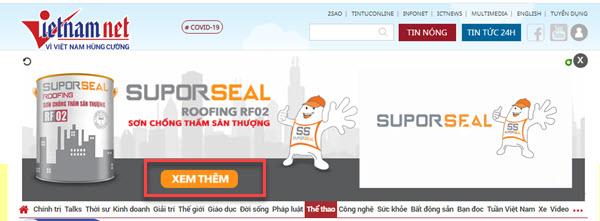 CTA khám phá sản phẩm Sơn được quảng cáo trên Google Display.