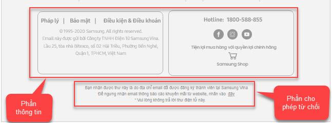 Cách đặt thông tin người quảng cáo trong Email.
