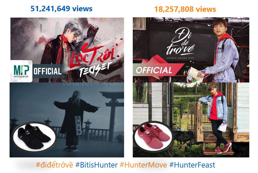 """Số view của 2 video clip viral trong chiến dịch """"Đi để trở về)"""