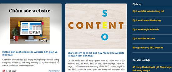 Bài viết trong về lĩnh vực Website & Marketing trong mục Blog của GOBRANDING.