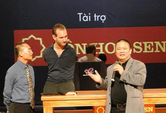 sự kiện Nick Vujicic đến Việt Nam của Tập đoàn Hoa Sen