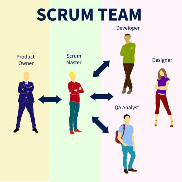 Các vai trò trong mô hình Scrum.