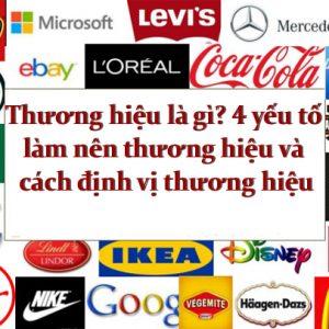 thương hiệu là gì, định vị thương hiệu, xây dựng thương hiệu